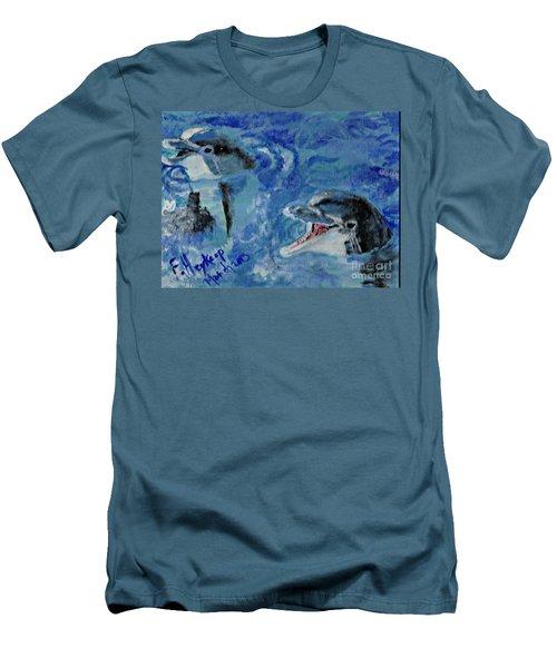 Dolphins Men's T-Shirt (Slim Fit)