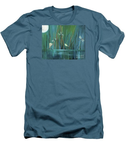Dragonfly Diner Men's T-Shirt (Slim Fit) by Carol Sweetwood
