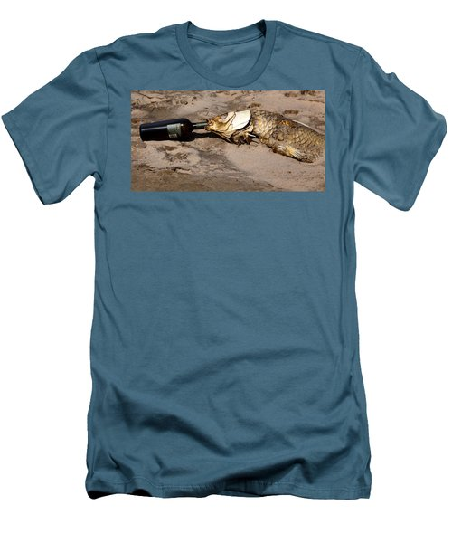 Drink Like A Fish Men's T-Shirt (Slim Fit) by Richard Engelbrecht
