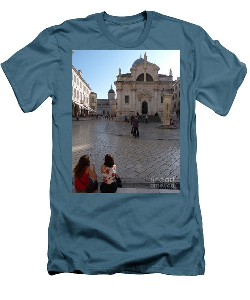 Dubrovnik - Time To Relax Men's T-Shirt (Slim Fit) by Phil Banks