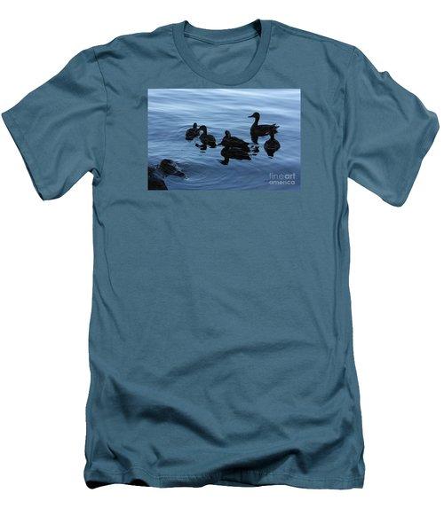 Ducks At Dusk Men's T-Shirt (Athletic Fit)