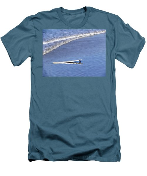 Men's T-Shirt (Slim Fit) featuring the photograph Dude Where Is My Surfer by Kathy Churchman