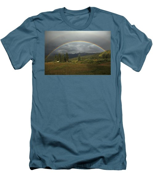 Durango Double Rainbow Men's T-Shirt (Athletic Fit)