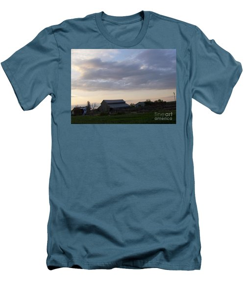 Men's T-Shirt (Slim Fit) featuring the photograph Dusk To Dawn by Bobbee Rickard