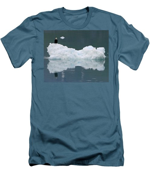 Eagle On Ice Men's T-Shirt (Slim Fit) by Shoal Hollingsworth