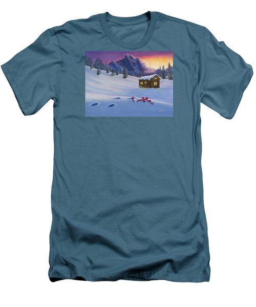 Early Christmas Morn Men's T-Shirt (Slim Fit) by Jack Malloch