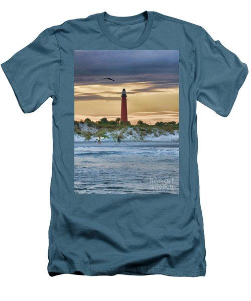 Early Evening Sky Men's T-Shirt (Slim Fit) by Deborah Benoit
