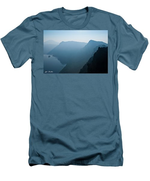Early Morning Fog Over Crater Lake Men's T-Shirt (Slim Fit) by Jeff Goulden