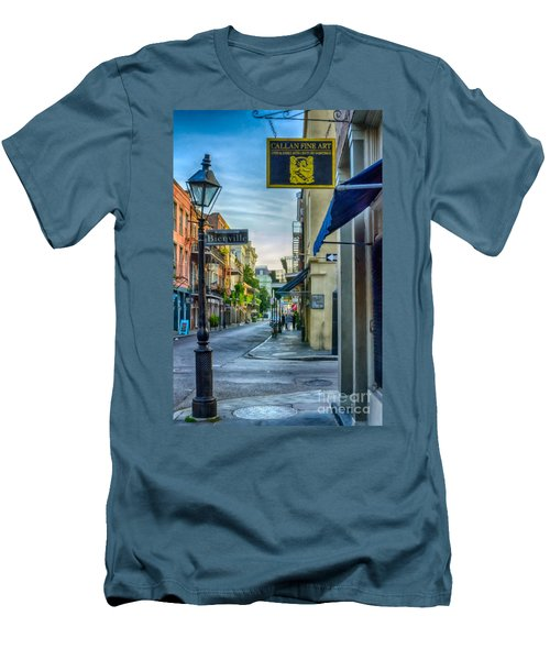 Early Morning In French Quarter Nola Men's T-Shirt (Athletic Fit)