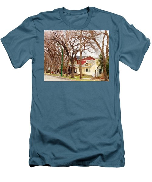 Early Spring Street Men's T-Shirt (Slim Fit) by Donald S Hall