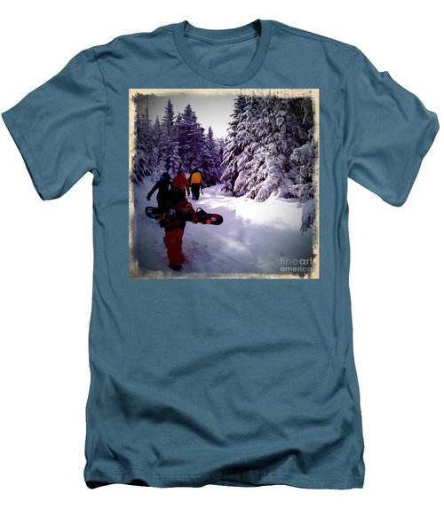 Men's T-Shirt (Slim Fit) featuring the photograph Earning Turns by James Aiken