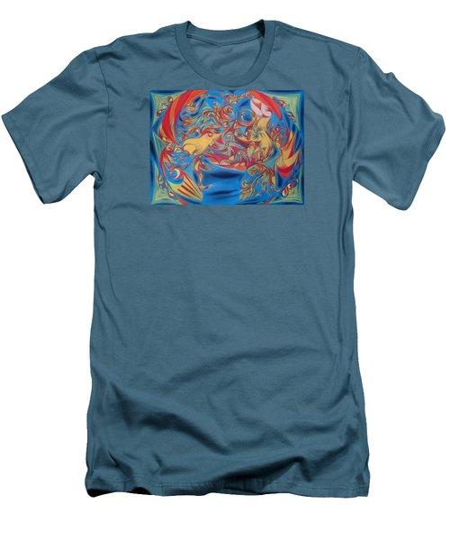 EAT Men's T-Shirt (Slim Fit) by Robert Nickologianis
