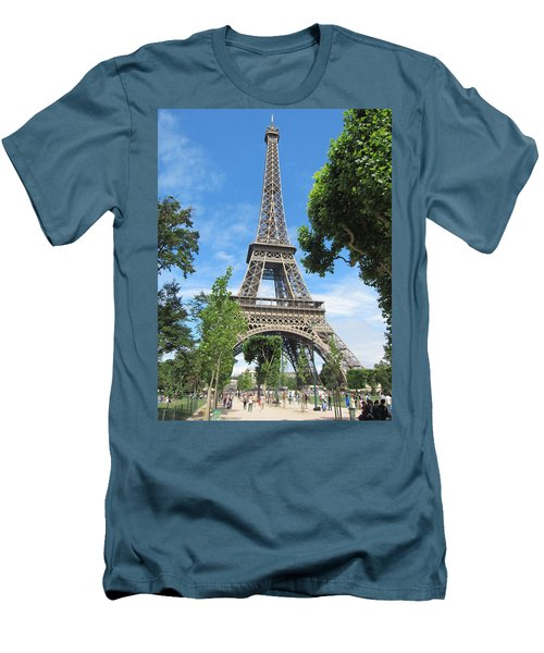 Men's T-Shirt (Slim Fit) featuring the photograph Eiffel Tower - 1 by Pema Hou