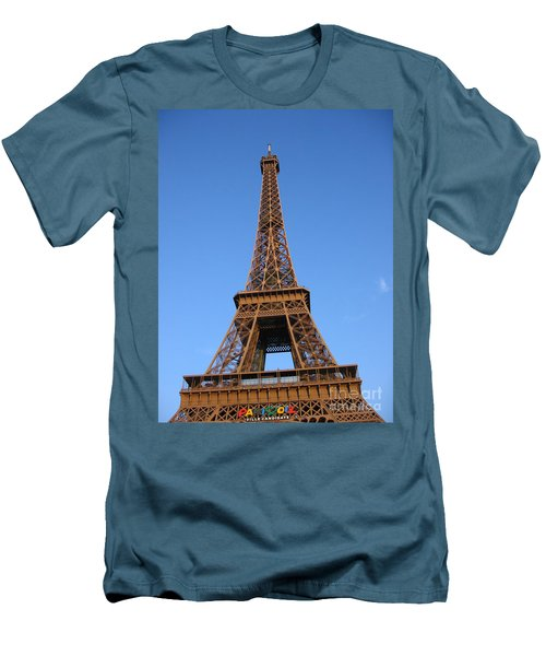 Eiffel Tower 2005 Ville Candidate Men's T-Shirt (Slim Fit) by HEVi FineArt