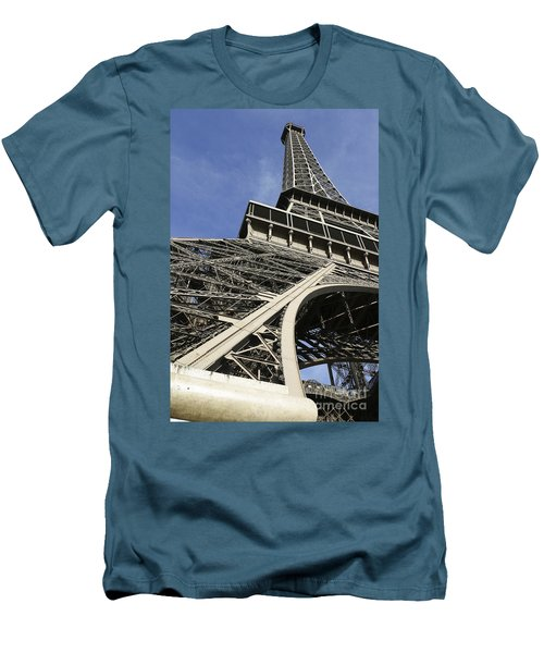 Men's T-Shirt (Slim Fit) featuring the photograph Eiffel Tower by Belinda Greb