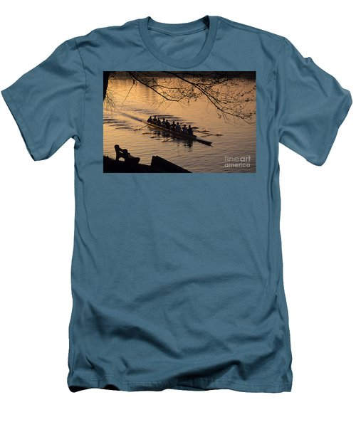 Eight Man Crew Rowing Along Montlake Cut  Men's T-Shirt (Athletic Fit)