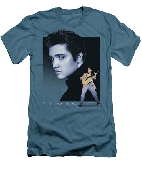 Elvis - Blue Rocker Men's T-Shirt (Slim Fit) by Brand A