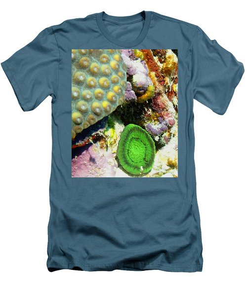 Emerald Artichoke Coral Men's T-Shirt (Athletic Fit)