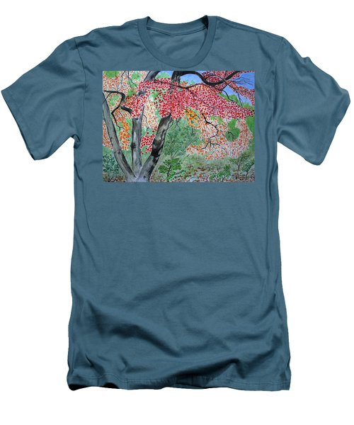 Enjoying Lost Maples Men's T-Shirt (Athletic Fit)