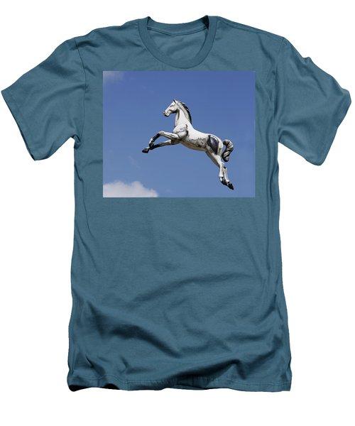 Escaped Carousel Horse Men's T-Shirt (Athletic Fit)