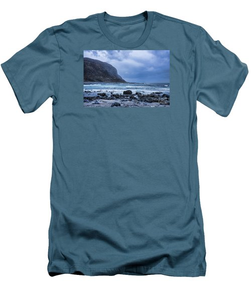 Evening At The Seaside In Rain Men's T-Shirt (Athletic Fit)