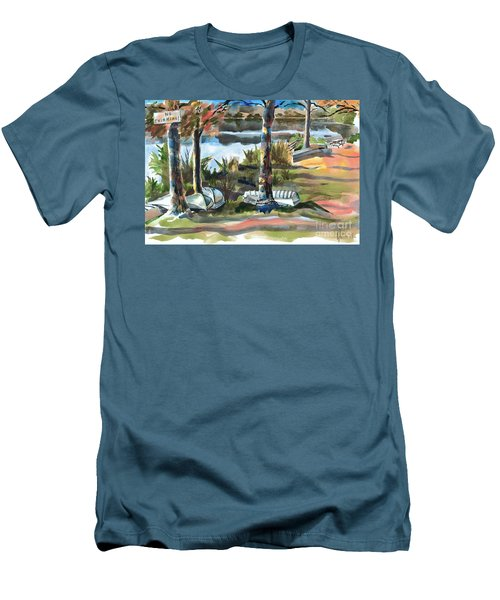 Evening Shadows At Shepherd Mountain Lake  No W101 Men's T-Shirt (Athletic Fit)