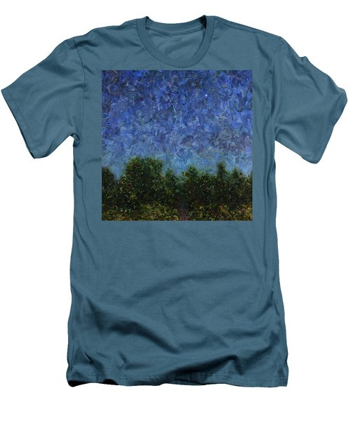 Men's T-Shirt (Slim Fit) featuring the painting Evening Star - Square by James W Johnson