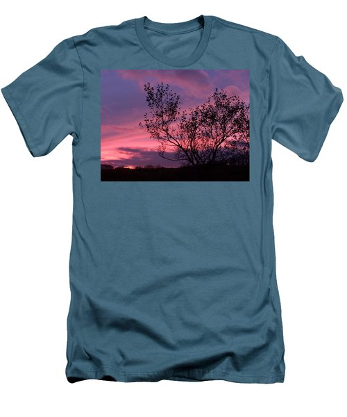 Evening Sunset Men's T-Shirt (Athletic Fit)