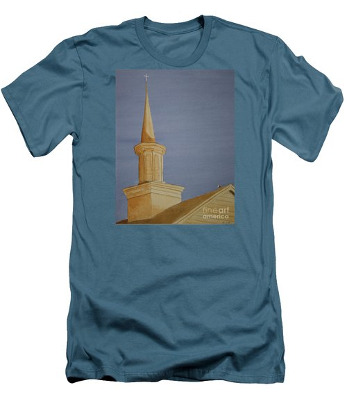 Men's T-Shirt (Slim Fit) featuring the painting Evening Worship by Stacy C Bottoms