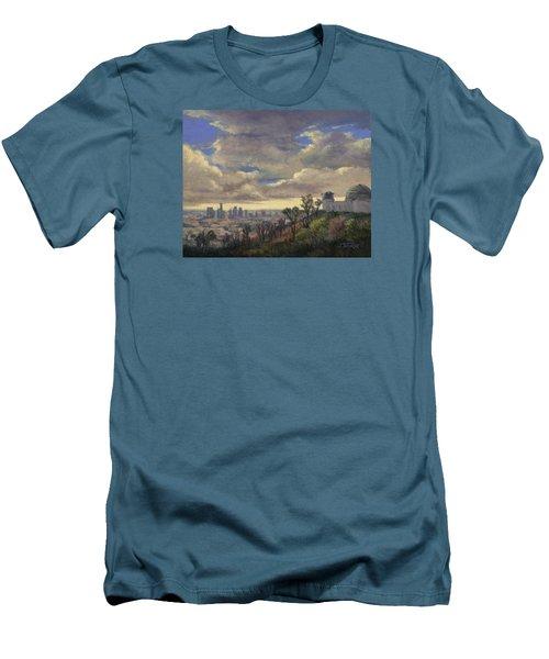 Expecting Rain Men's T-Shirt (Slim Fit) by Jane Thorpe