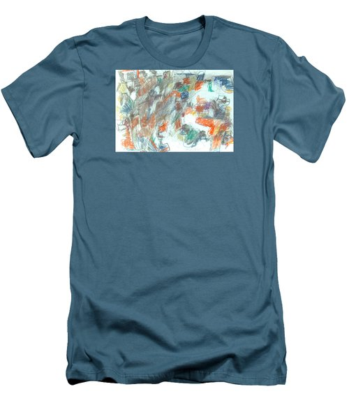 Men's T-Shirt (Slim Fit) featuring the mixed media Express Graphic by Esther Newman-Cohen