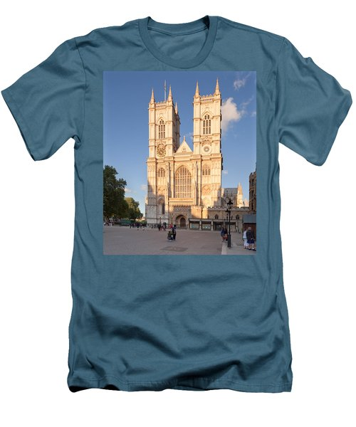 Facade Of A Cathedral, Westminster Men's T-Shirt (Slim Fit) by Panoramic Images