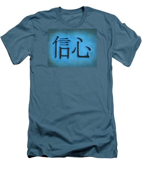 Men's T-Shirt (Slim Fit) featuring the drawing Faith by Troy Levesque