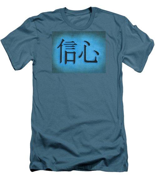 Faith Men's T-Shirt (Slim Fit) by Troy Levesque