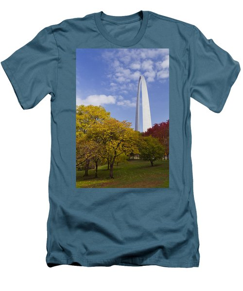Fall At The St Louis Arch Men's T-Shirt (Athletic Fit)