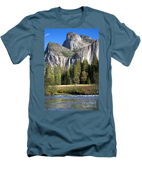 Men's T-Shirt (Slim Fit) featuring the photograph Yosemite National Park-sentinel Rock by David Millenheft