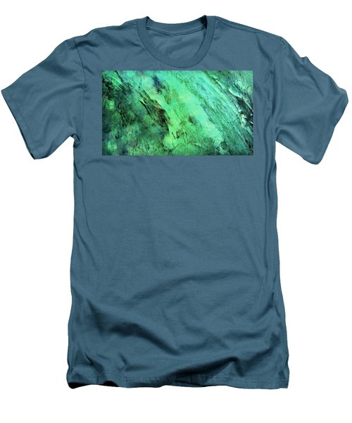 Men's T-Shirt (Slim Fit) featuring the mixed media Fallen by Ally  White