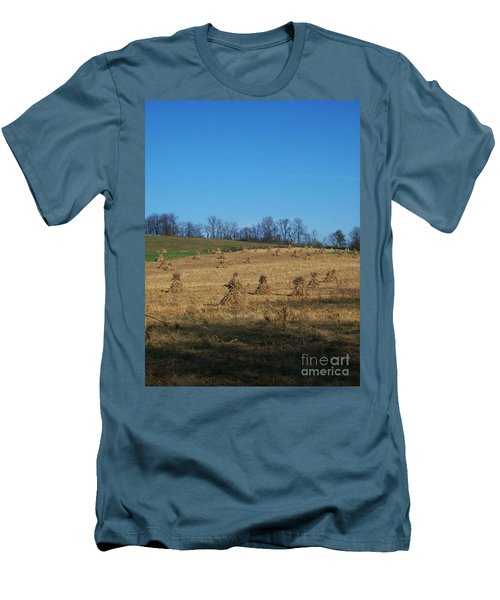 Men's T-Shirt (Slim Fit) featuring the photograph Farm Days by Sara  Raber