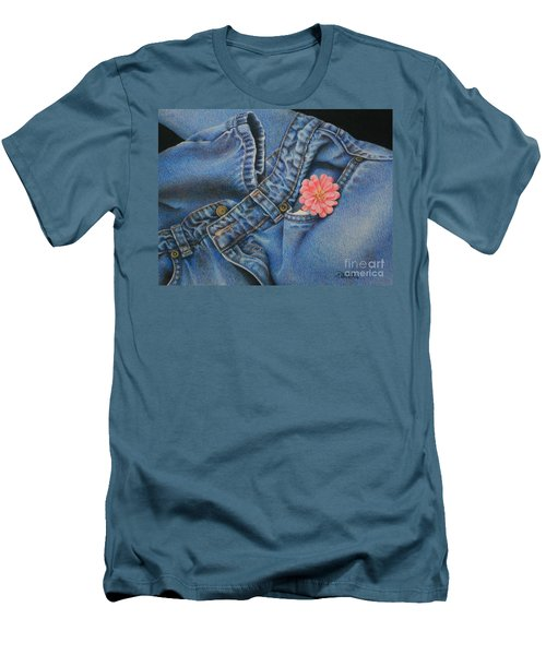 Men's T-Shirt (Slim Fit) featuring the painting Favorite Jeans by Pamela Clements