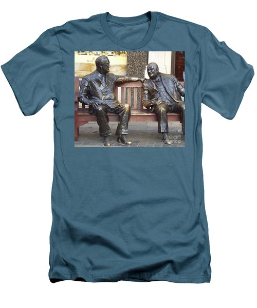 Fdr And Churchill Having A Chat In London Men's T-Shirt (Athletic Fit)