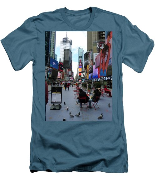 Men's T-Shirt (Slim Fit) featuring the photograph Feeding Time by Jackie Carpenter