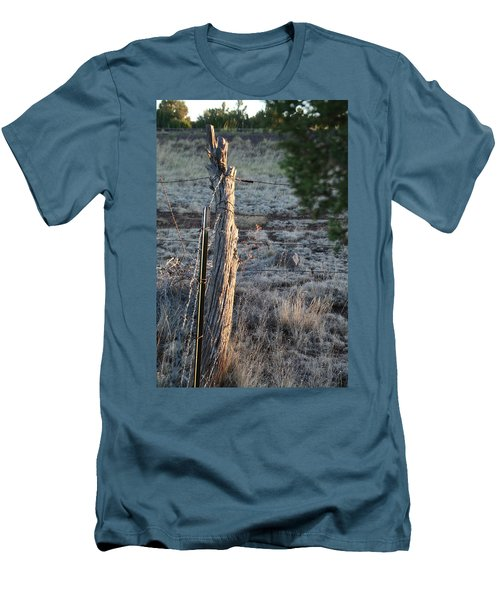 Men's T-Shirt (Slim Fit) featuring the photograph Fence Post by David S Reynolds
