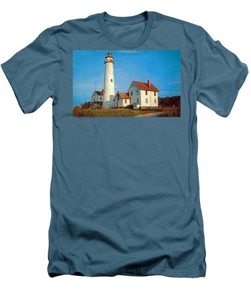 Fenwick Island Lighthouse 1950 Men's T-Shirt (Slim Fit) by Skip Willits