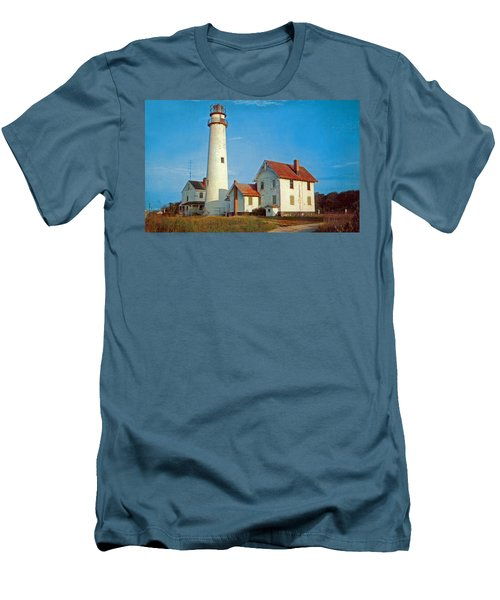Fenwick Island Lighthouse 1950 Men's T-Shirt (Athletic Fit)