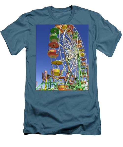 Men's T-Shirt (Slim Fit) featuring the photograph Ferris Wheel by Marcia Socolik
