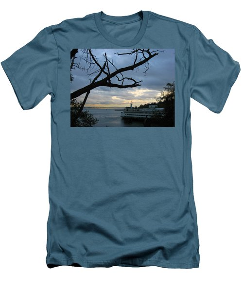 Ferryboat To Seattle  Men's T-Shirt (Slim Fit) by Kym Backland