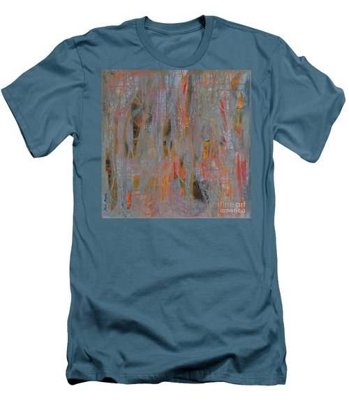 Men's T-Shirt (Slim Fit) featuring the painting Fibres Of My Being by Mini Arora