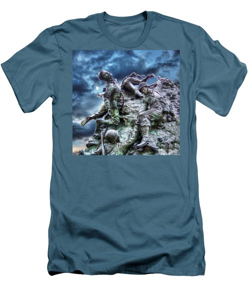 Fight On Men's T-Shirt (Slim Fit) by Dan Stone