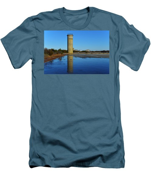 Fire Control Tower 3 Icy Reflection Men's T-Shirt (Athletic Fit)