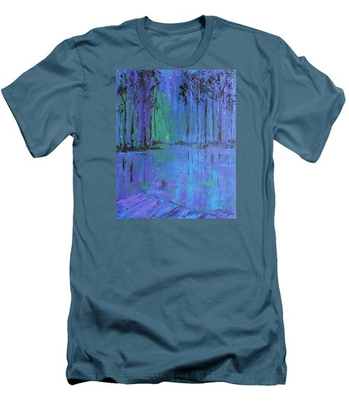Fireflies Men's T-Shirt (Slim Fit) by Patricia Olson